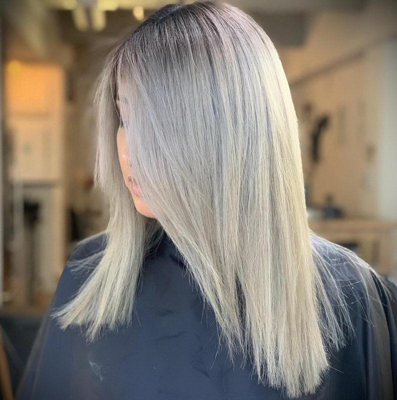 smokey ash blonde