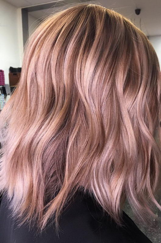 strawberry blonde brown hair