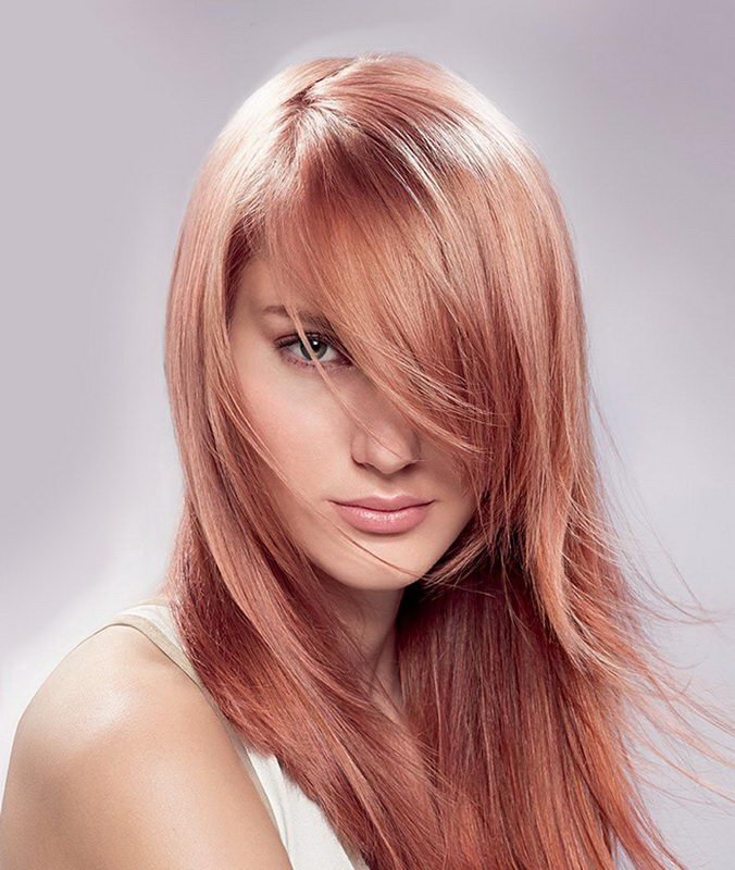 strawberry blonde highlights on light brown hair