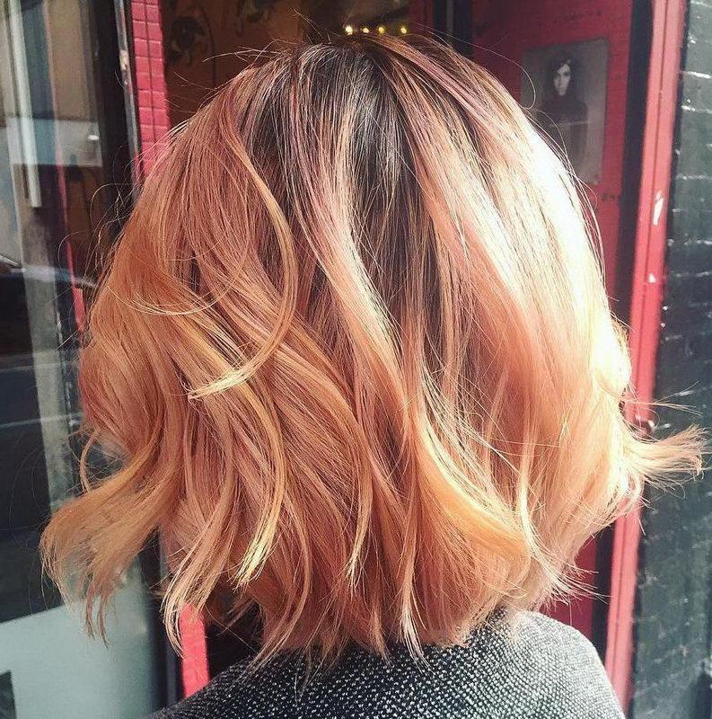 strawberry blonde short hair
