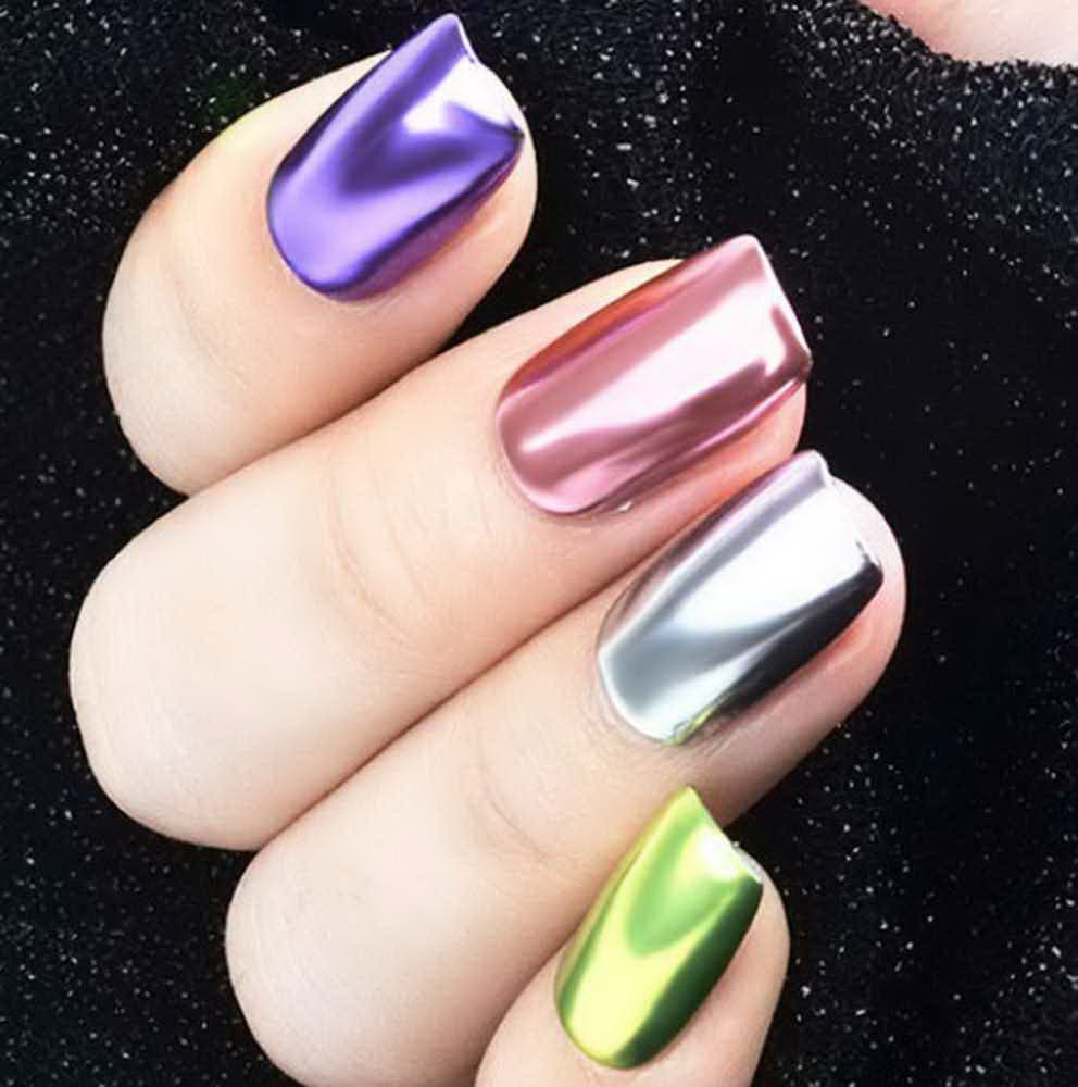 top chrome nails