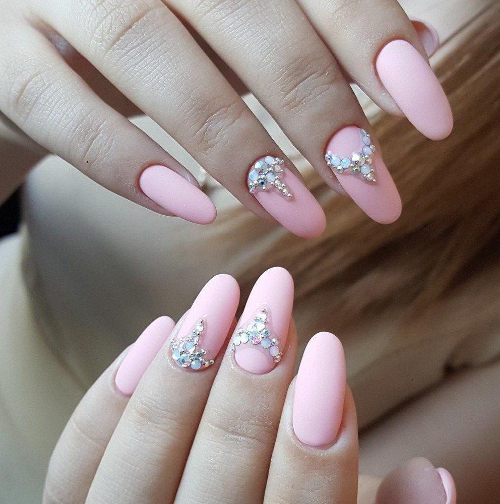 wedding diamonds nails