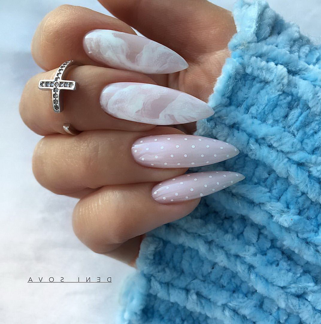 white fake nails