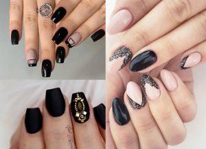 Black Nail Designs 1