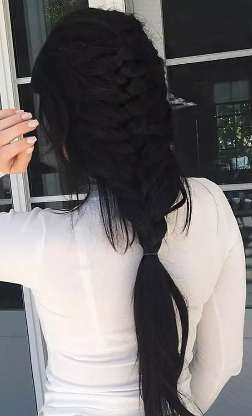 Kylie Jenner French Braid