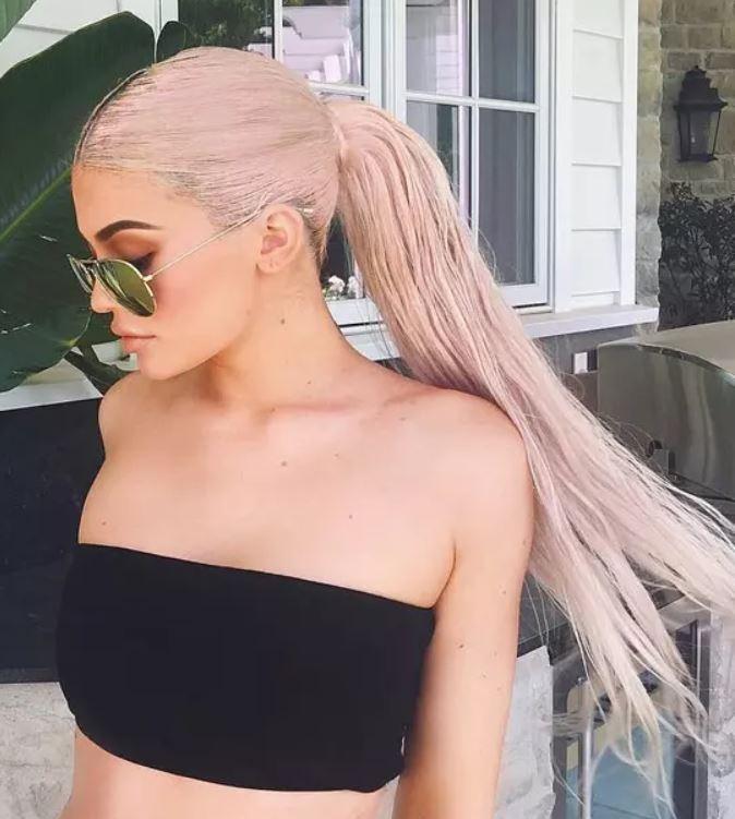 Kylie Jenner Pink Braid
