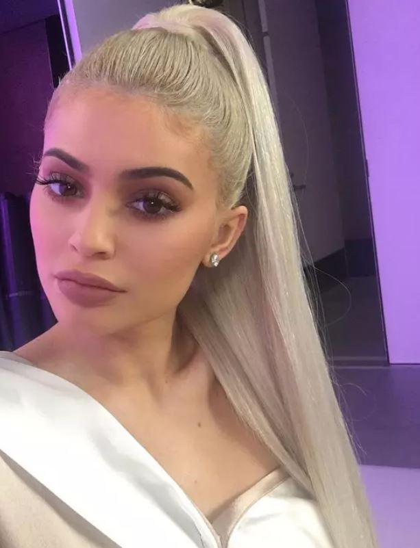 Kylie Jenner Silver Blonde hair