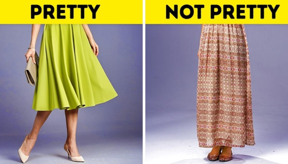 No lengthy skirts
