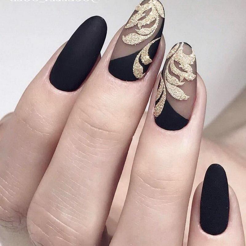acrylic Black Nail