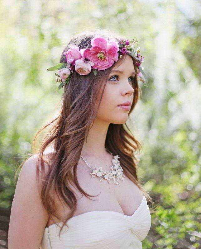 bride long hairstyles
