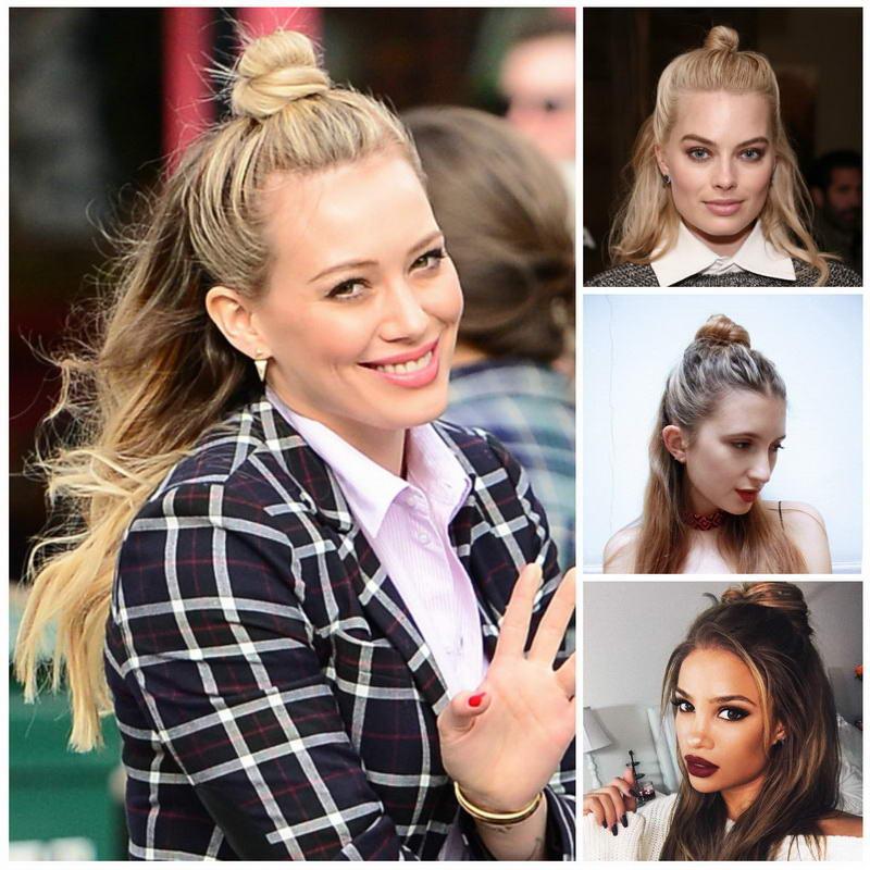 brided bun long hairstyles