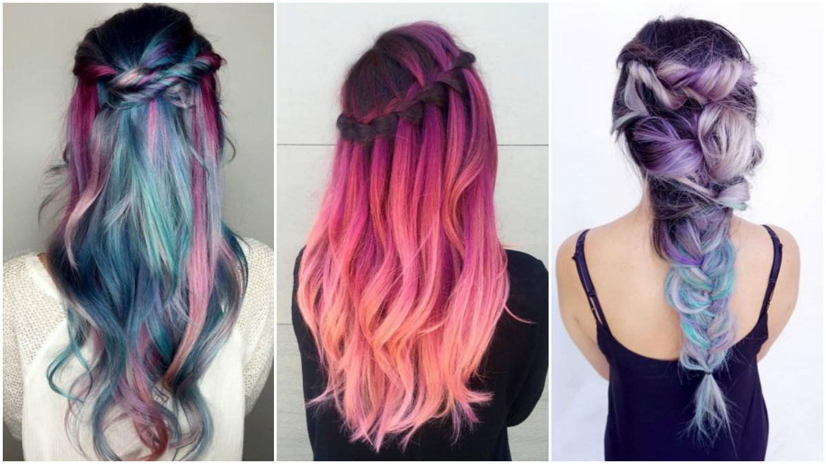 colored long hairstyles