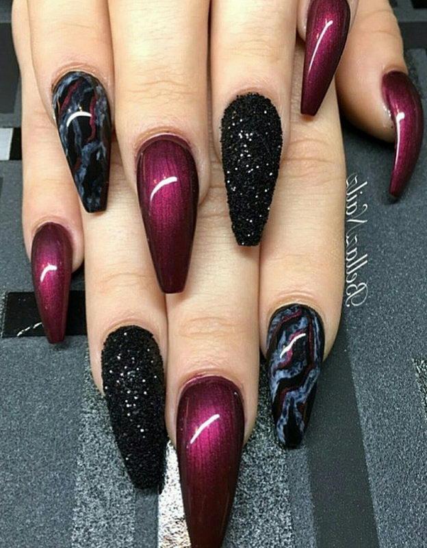 marsala Black Nail