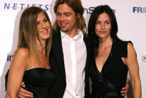 Courteney Cox played essential duty in rejoining Brad Pitt and Jennifer Aniston