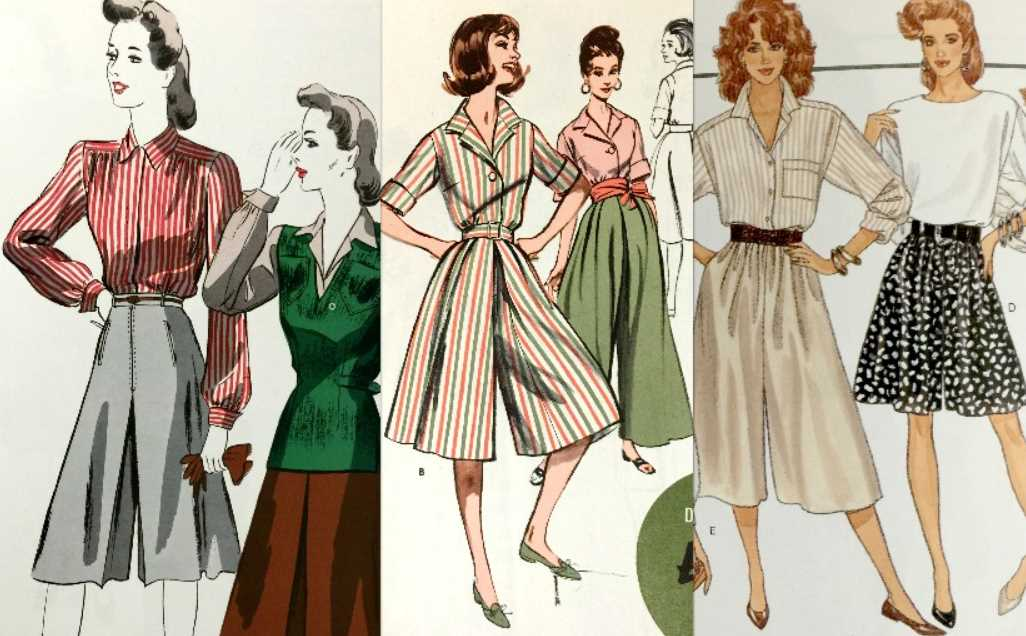 Culottes from the 1950s