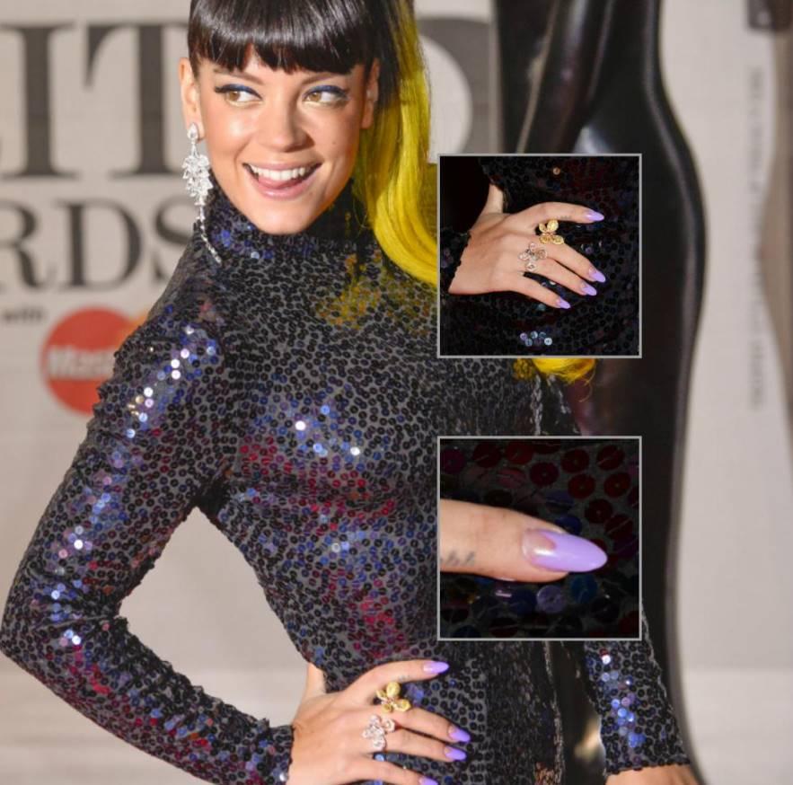 Lily Allen nails