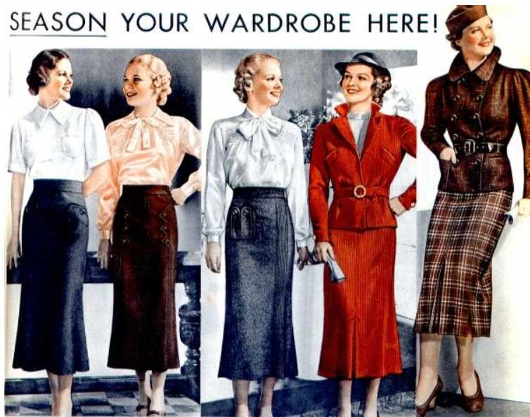 Midi skirts from the 1930s