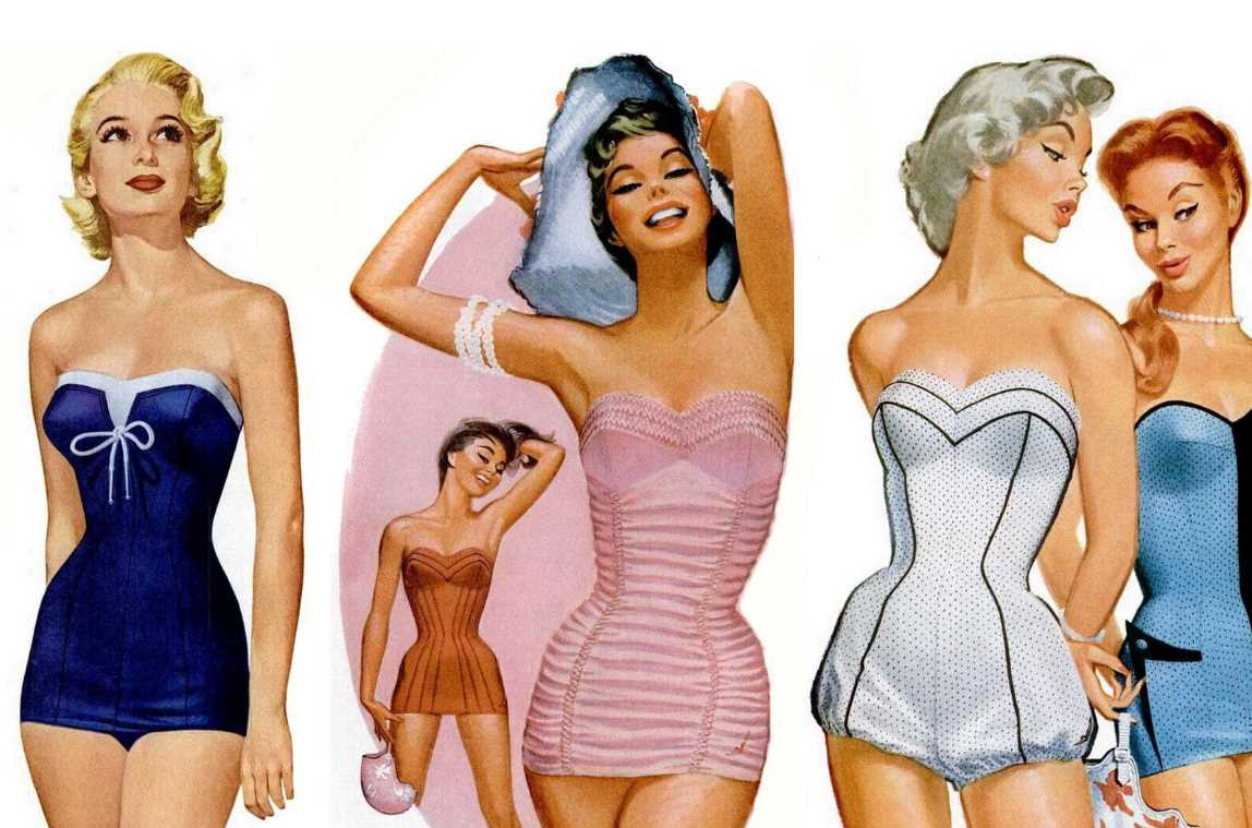 Swimsuits from the 1950s
