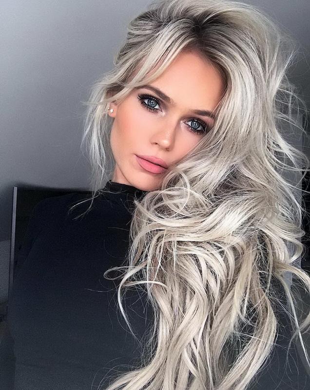 dirty blonde curly hair