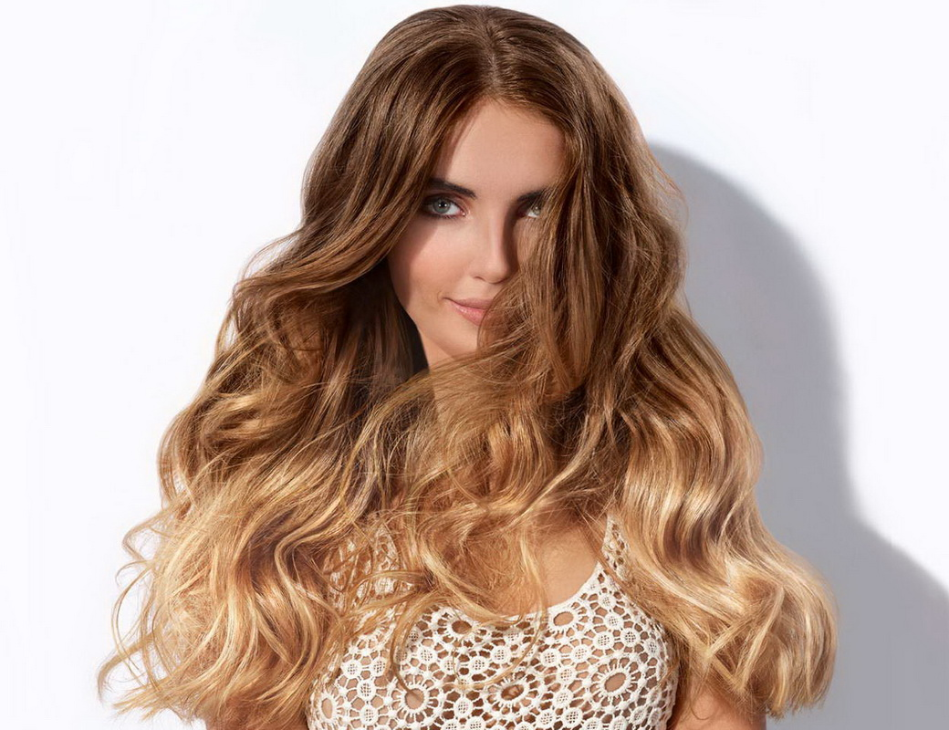 dirty blonde hair with brown highlights