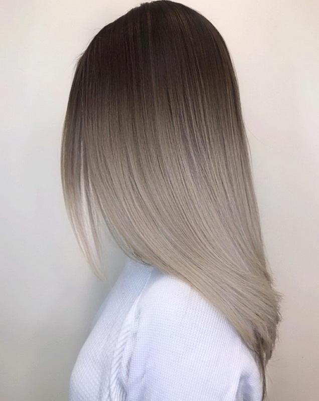 dirty blonde highlights on dark brown hair