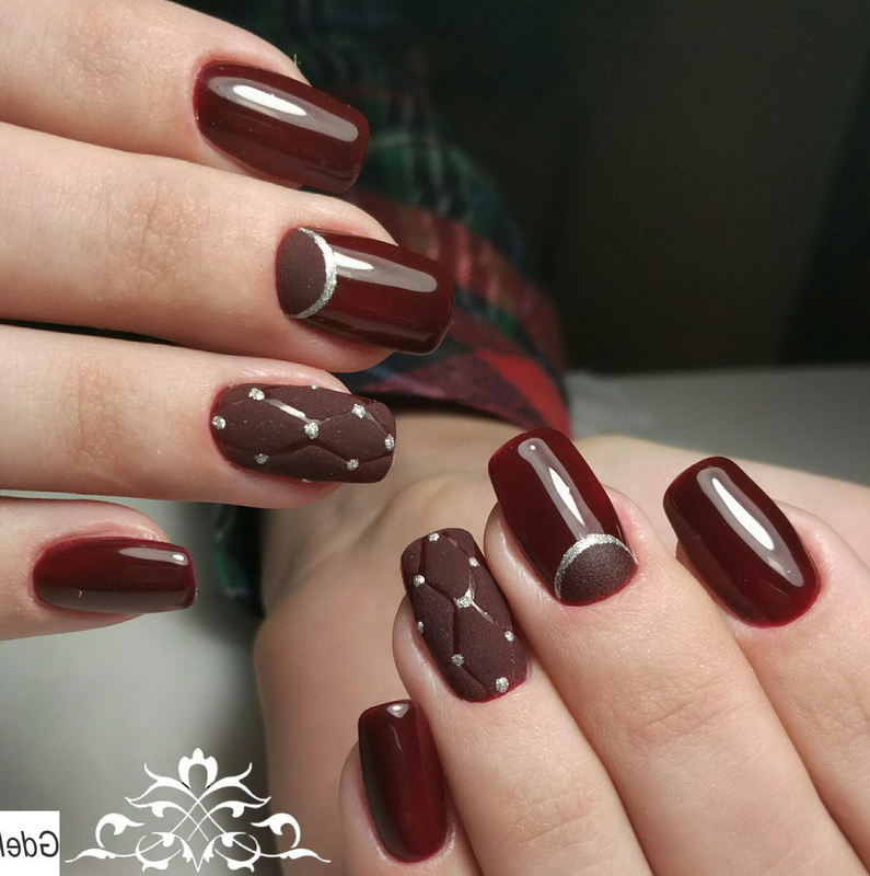 elegant brown nails