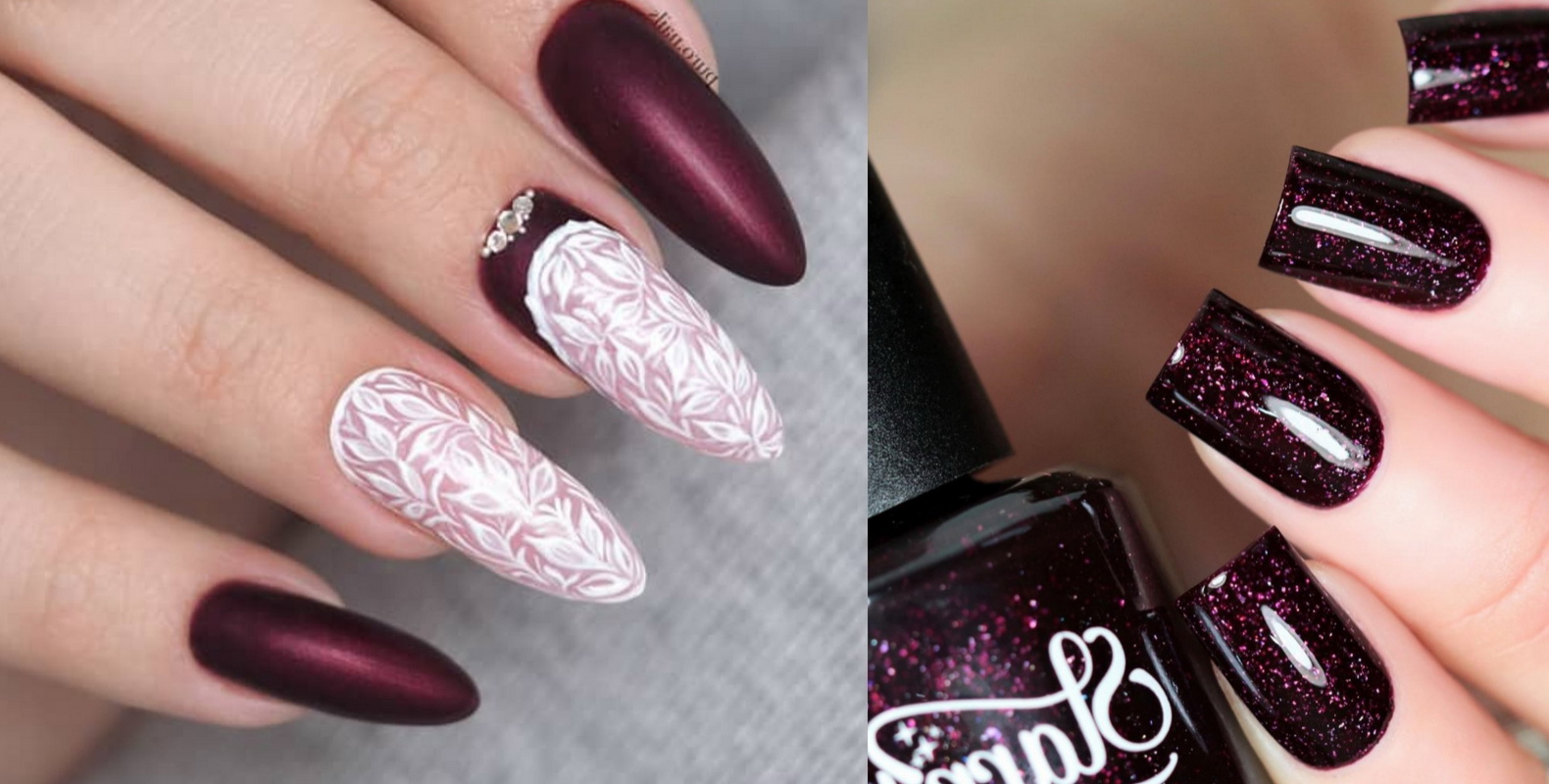 elegant burgundy nails