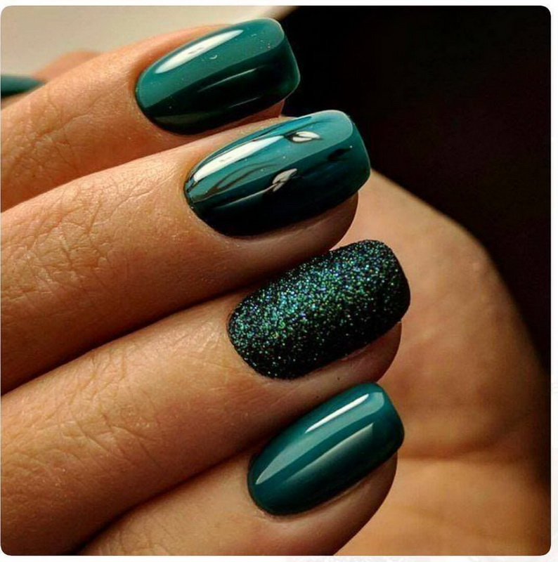 elegant green nails