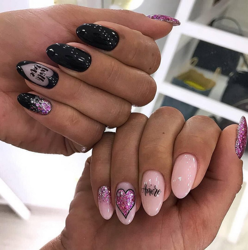elegant love nails