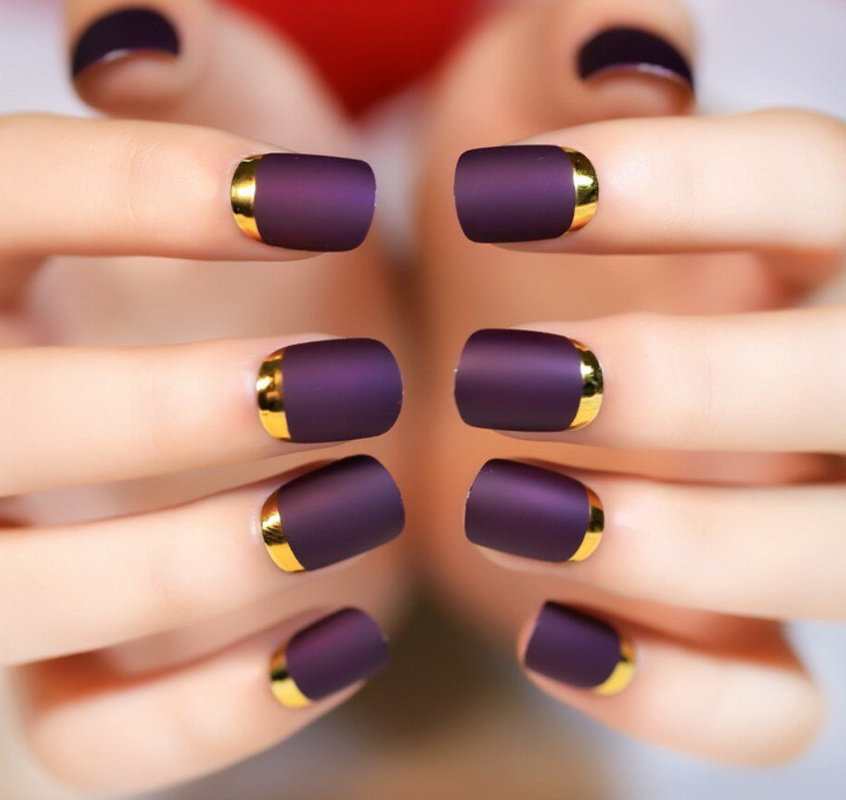 elegant purple nails