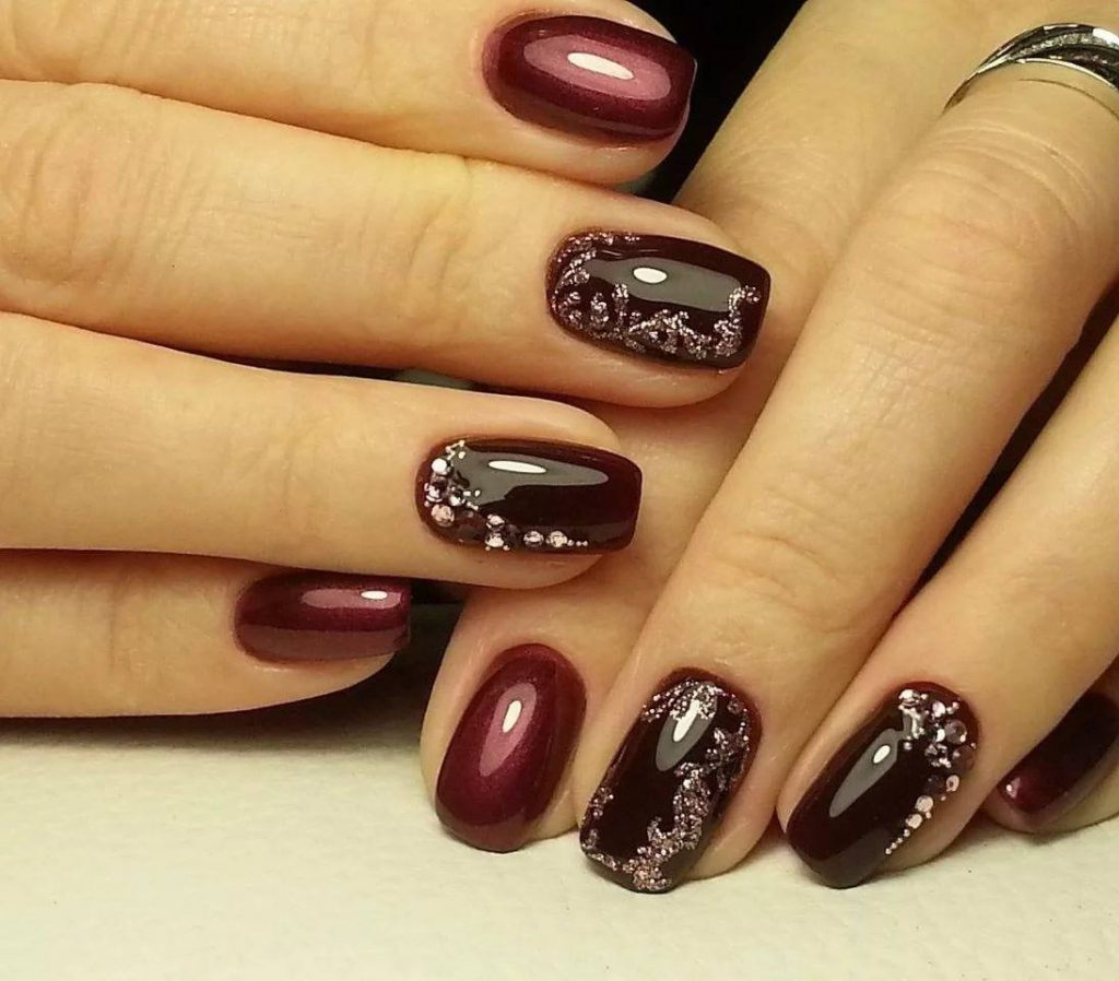 fancy brown nails