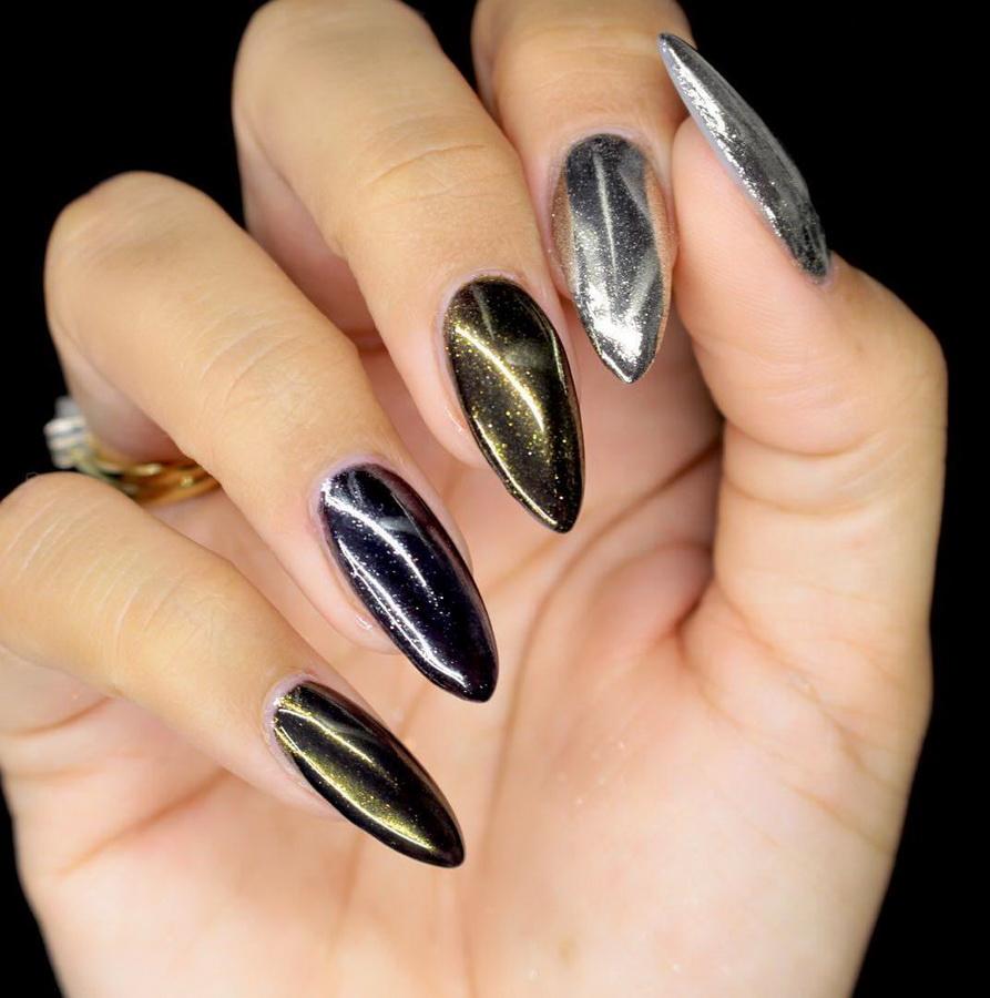 fancy chrome nails