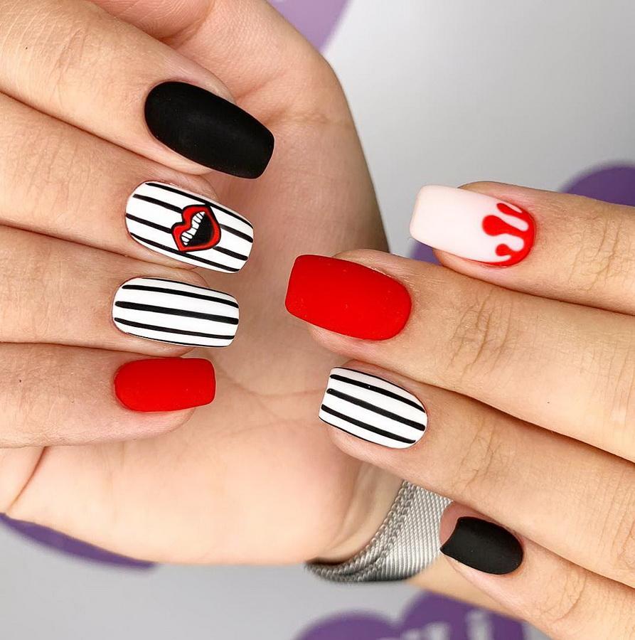fancy gel nails