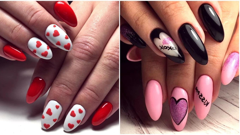 fancy heart nails