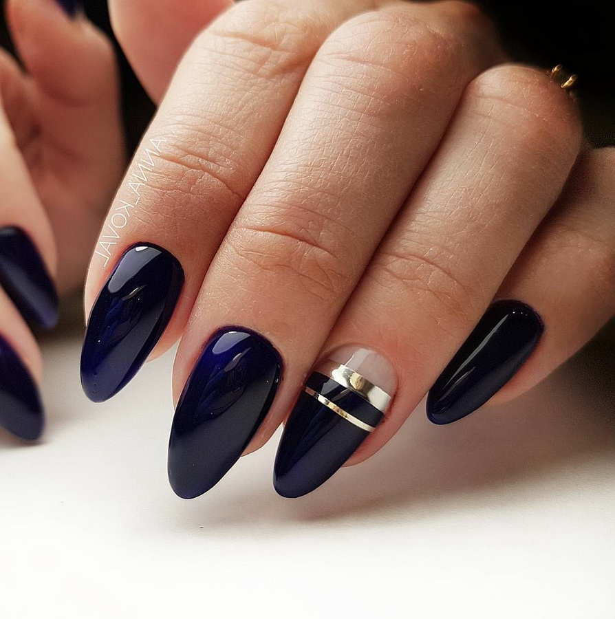 fancy indigo nails