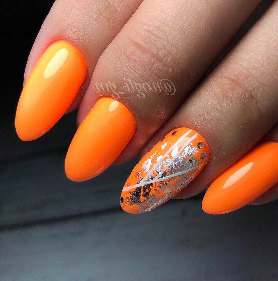 fancy orange nails