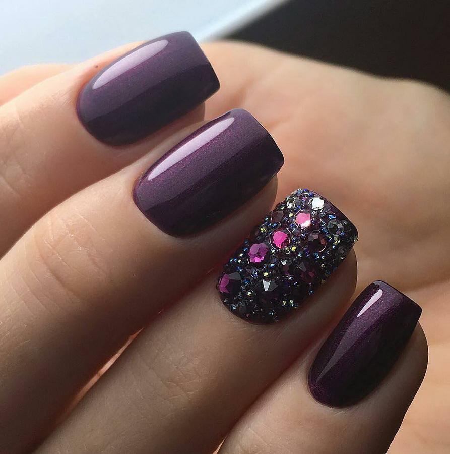 fancy purple nails