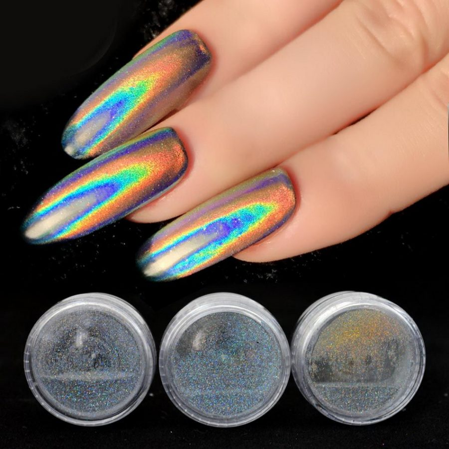 long holographic nails
