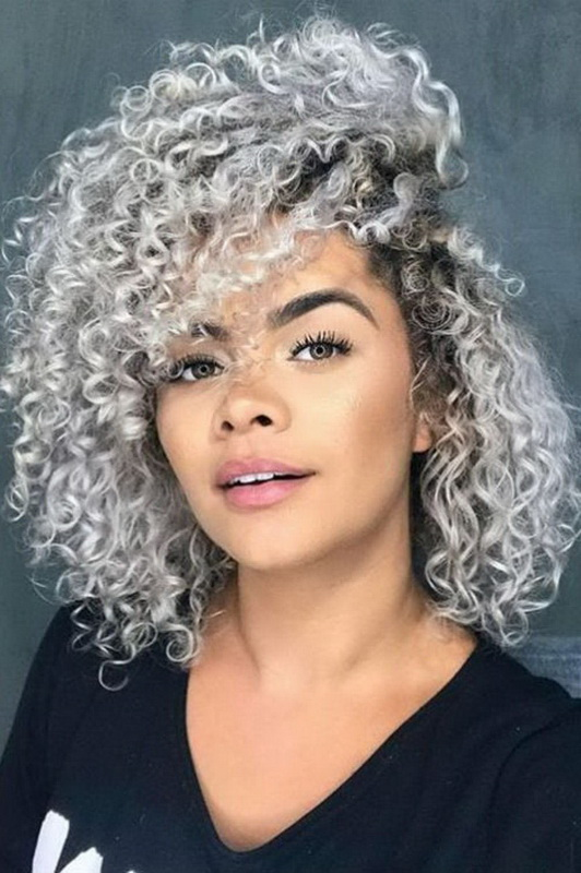 med length curly haircuts