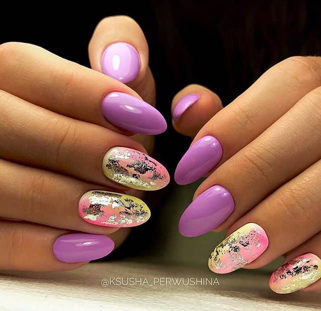 Violet Almonds with a Splash of Color