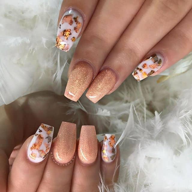 Shades of Orange and White Camouflage