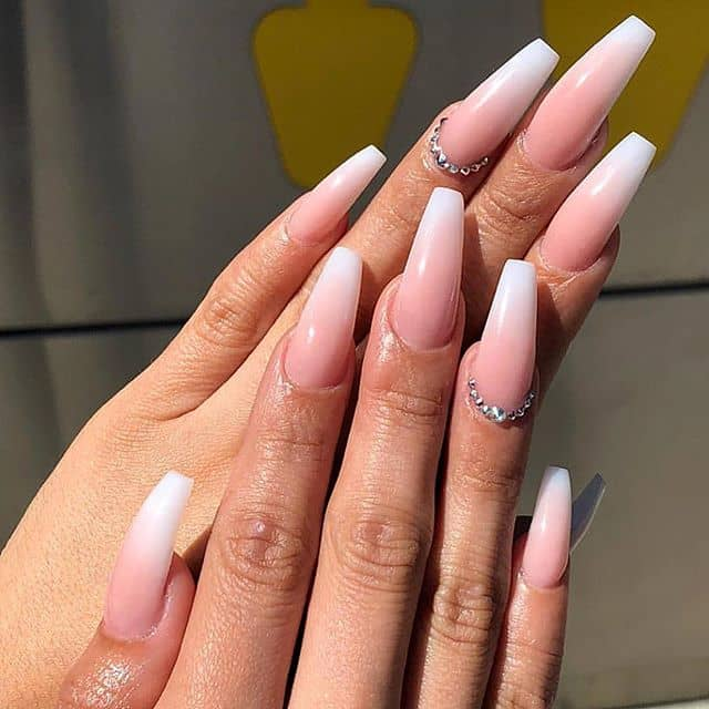 Soft Pink with a Ring of Gem