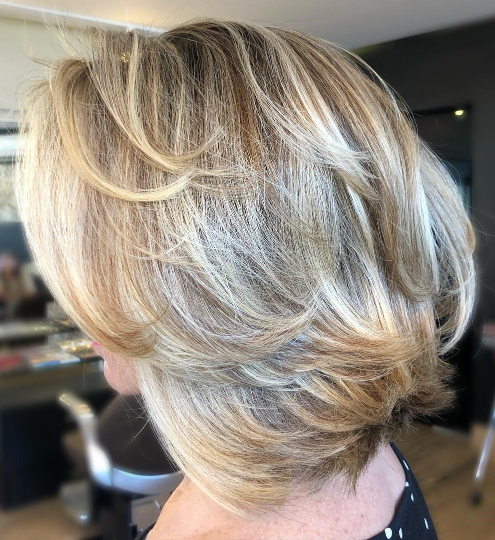 Medium Haircut with Short Layers