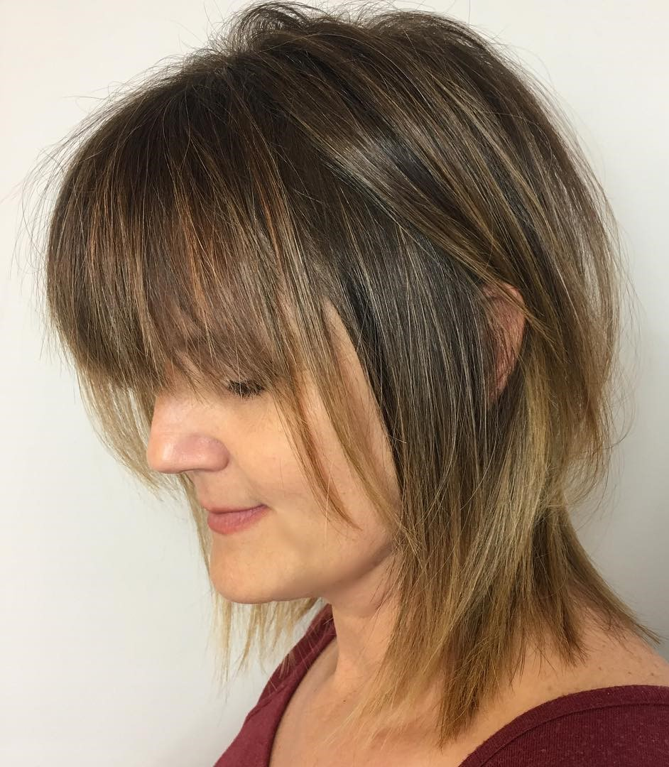 Wispy Shag with Bangs for Fine Hair
