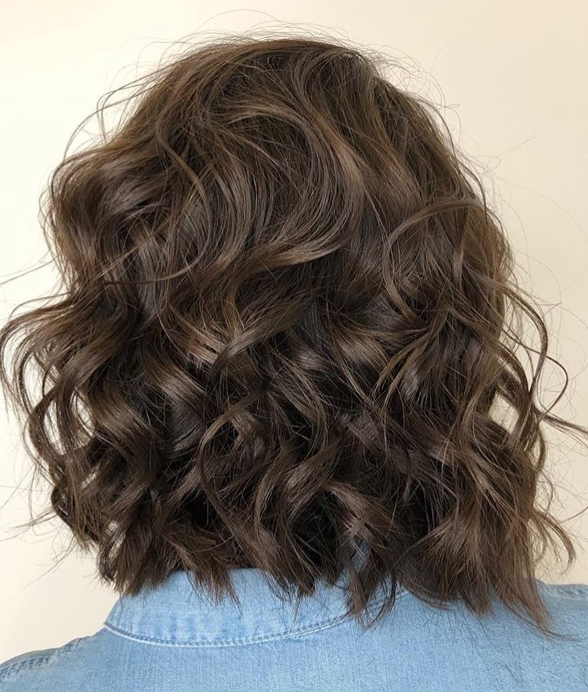 Tousled Medium Curly Haircut