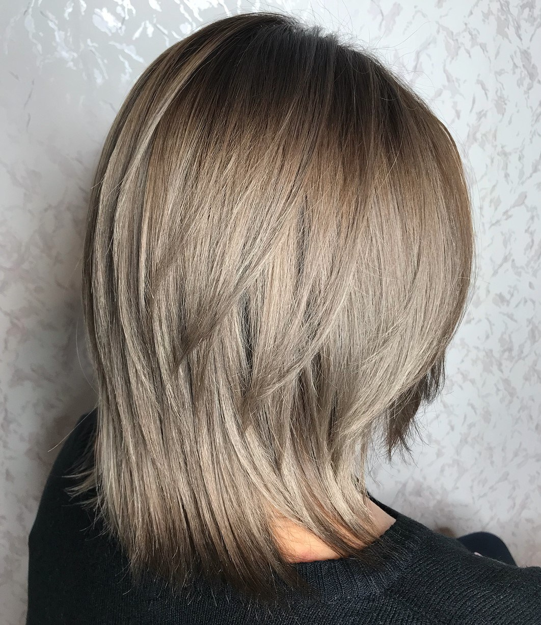 Two-Tier Cut for Straight Hair