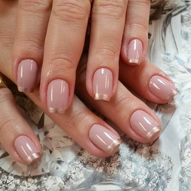 A Glamorous Twist with Rose Gold Tips