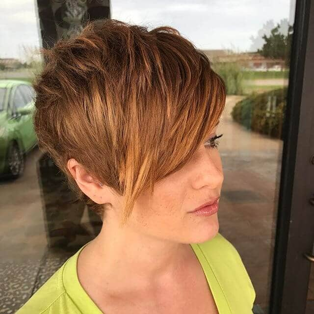 Punk-inspired Pixie Shag with Long Bangs