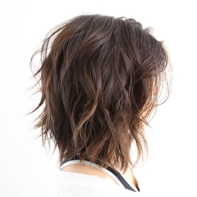 Tousled Layers Fall Just Below the Chin