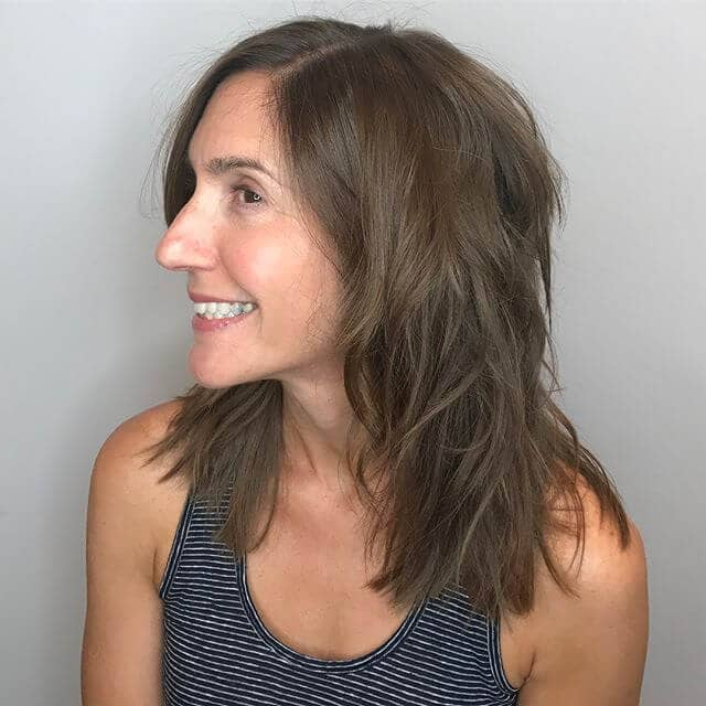 Simple and Pretty Blunt Shoulder-length Shag